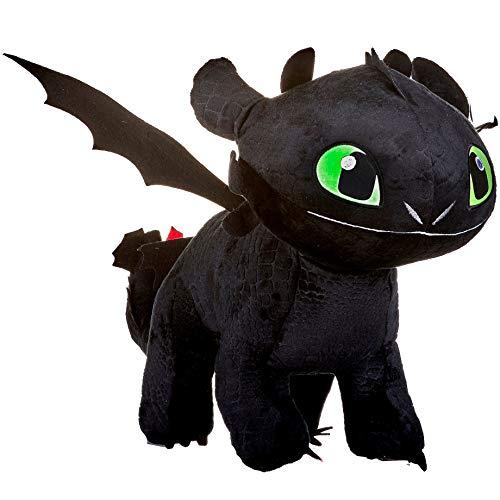 Peluche Krokmou 40cm Noir- Peluche Original Dragons 3