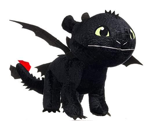 DreamWorks peluche Dragon KROKMOU - Peluche krokmou XXL 90cm, peluche  géante noire